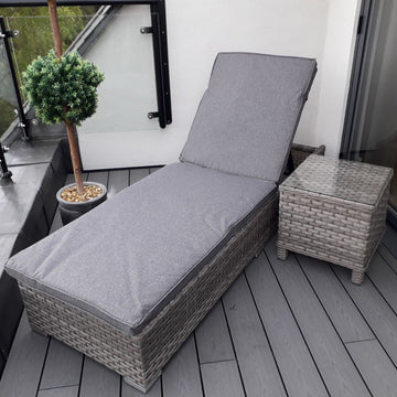 Harbo Verona Sunlounger with Cushion