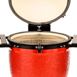 Kamado Joe Big Joe Stand Alone Red Ceramic Charcoal BBQ Grill