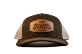 Western Horseman Leather Patch Cap