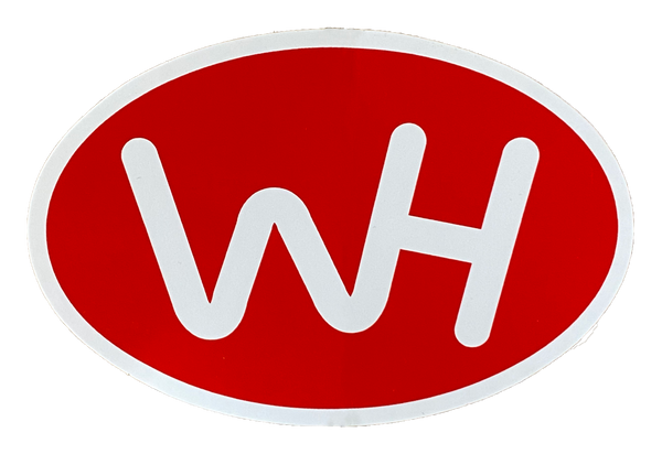 WH Oval Sticker