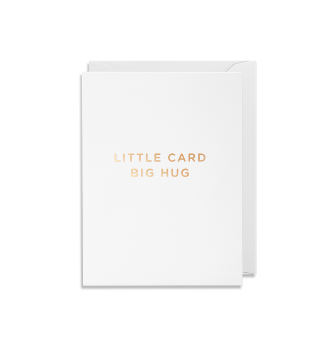 Little card big hug mini card