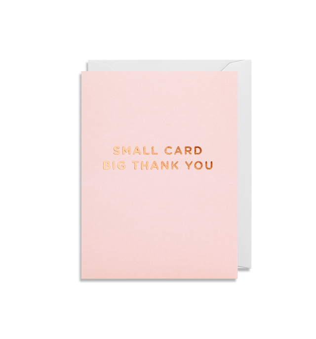 Small Card Big Thank You (Pink)