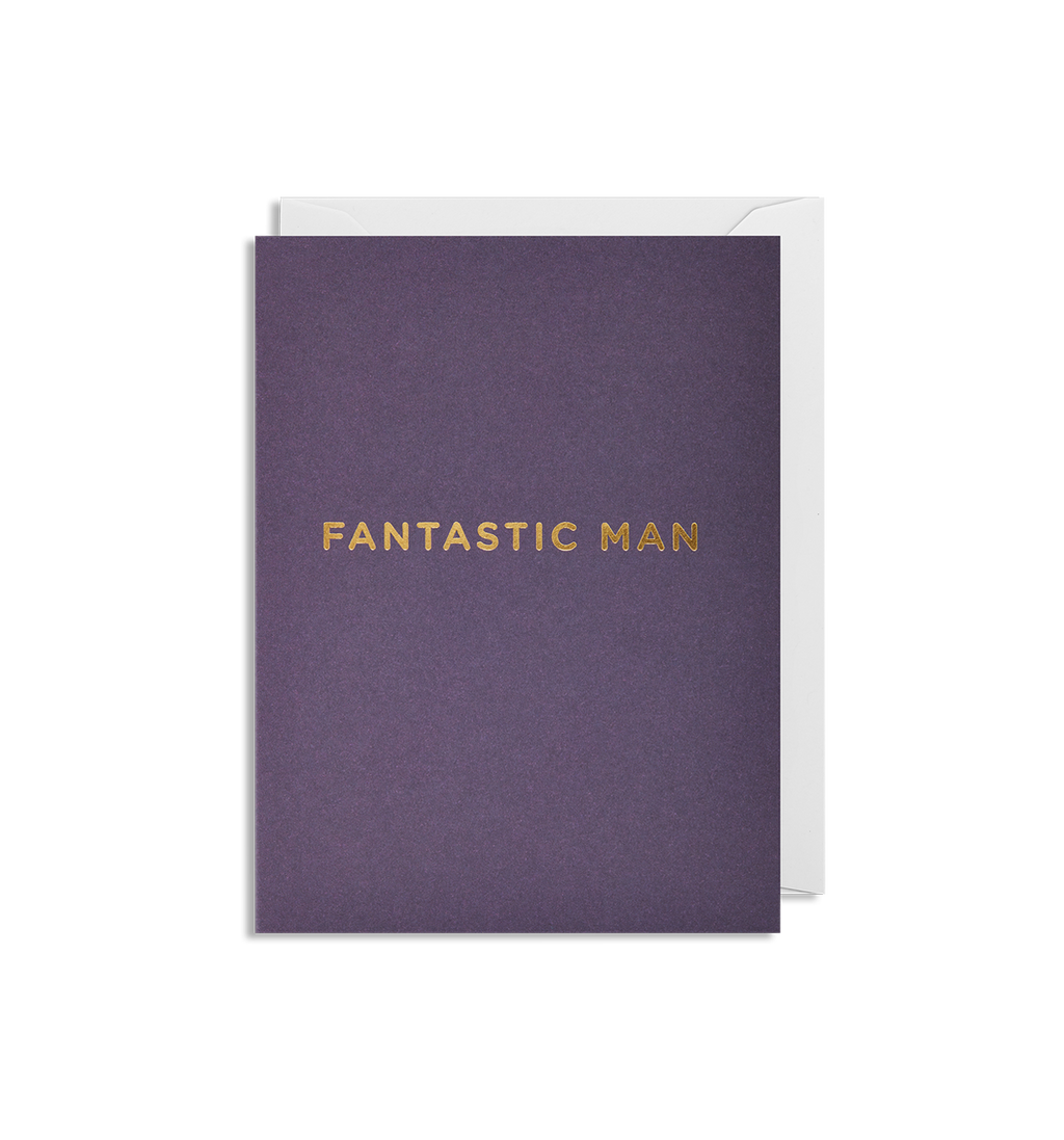 Fantastic Man mini card