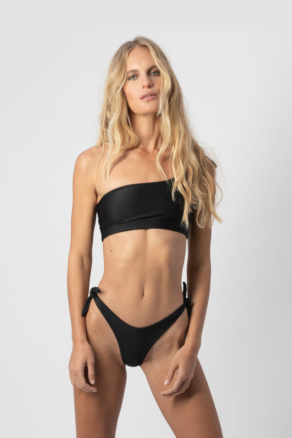 Jean High Waisted Adjustable Bikini Bottom Serpent | ABYSSE (Made in USA)