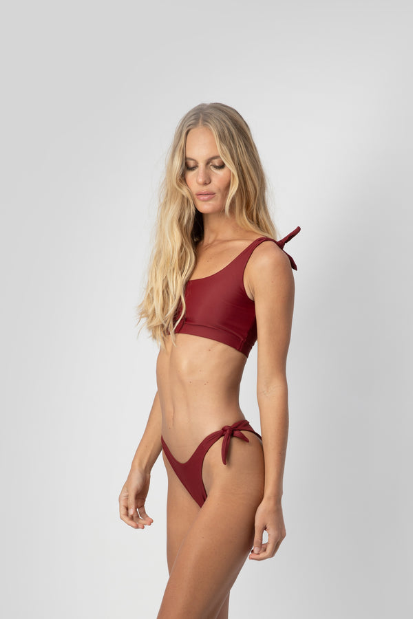 Jones Bikini Top - Plum