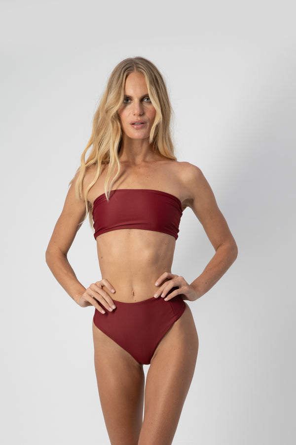Bardot Top - Plum