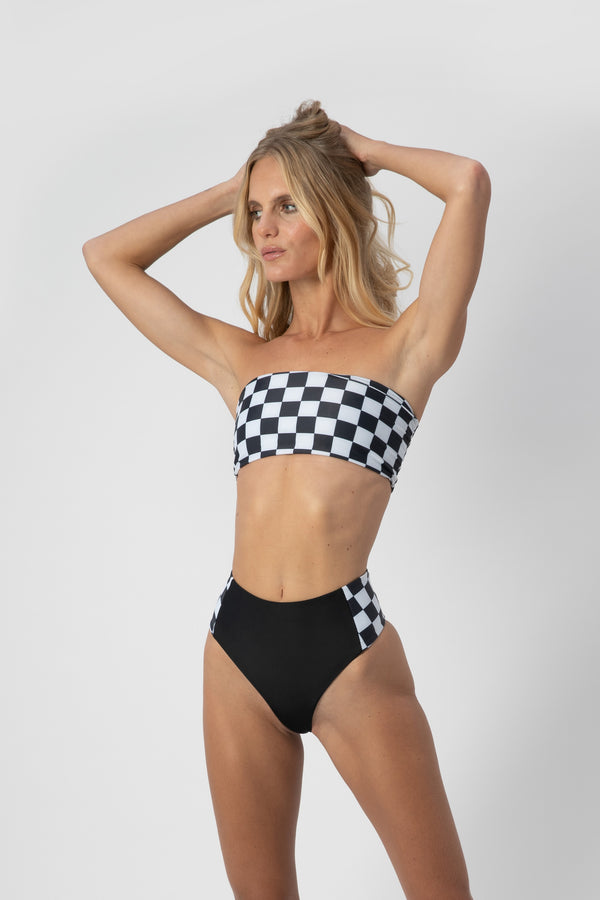 Bardot Top - Checkers