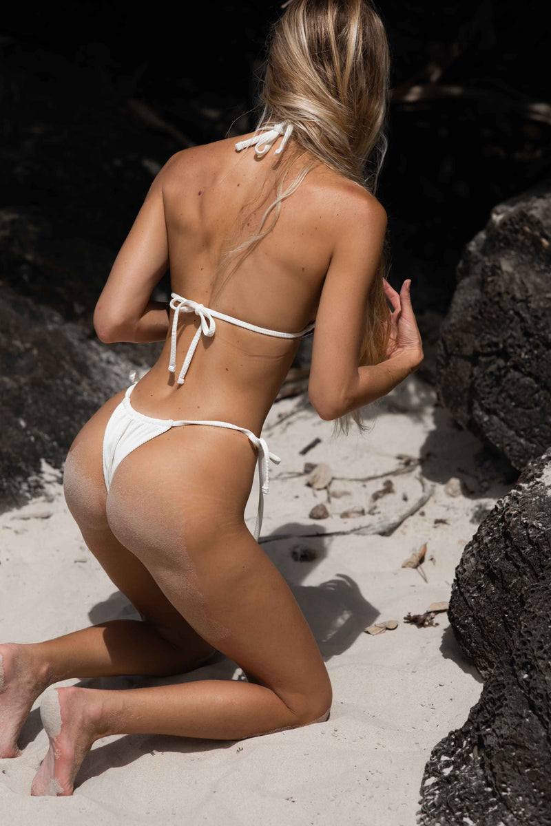 Misty Bottom - mini bikini - brazilian cut- Dune-rib