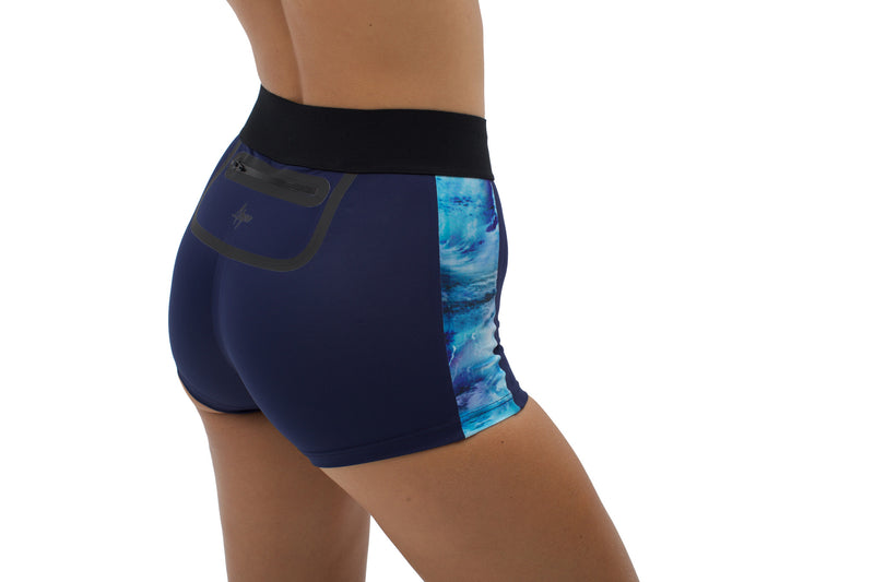 Osa | Sustainable Cheeky Shorts - Ocean | ABYSSE