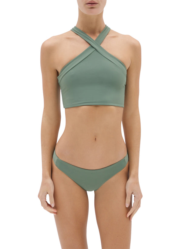 Shiva | Sustainable Econyl Sporty Top in Eucalyptus | ABYSSE