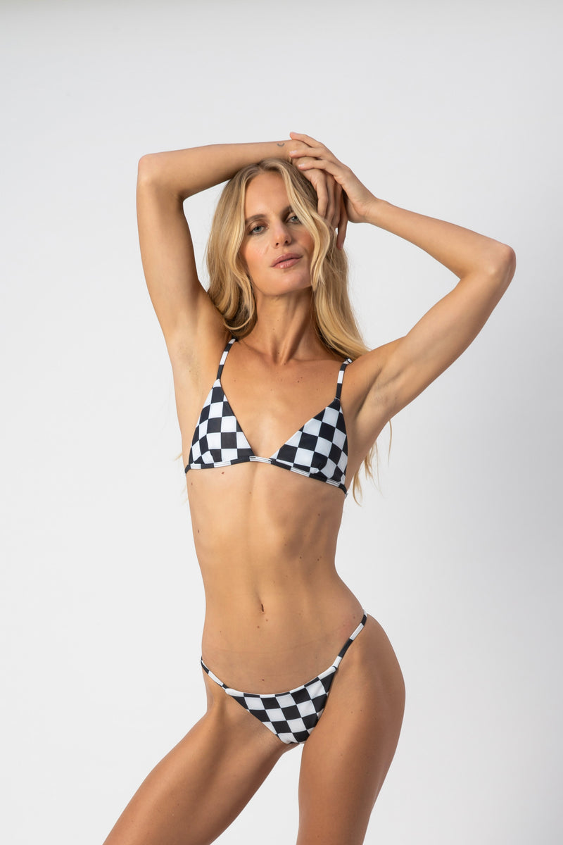 Dawn Bikini Top - Checkers
