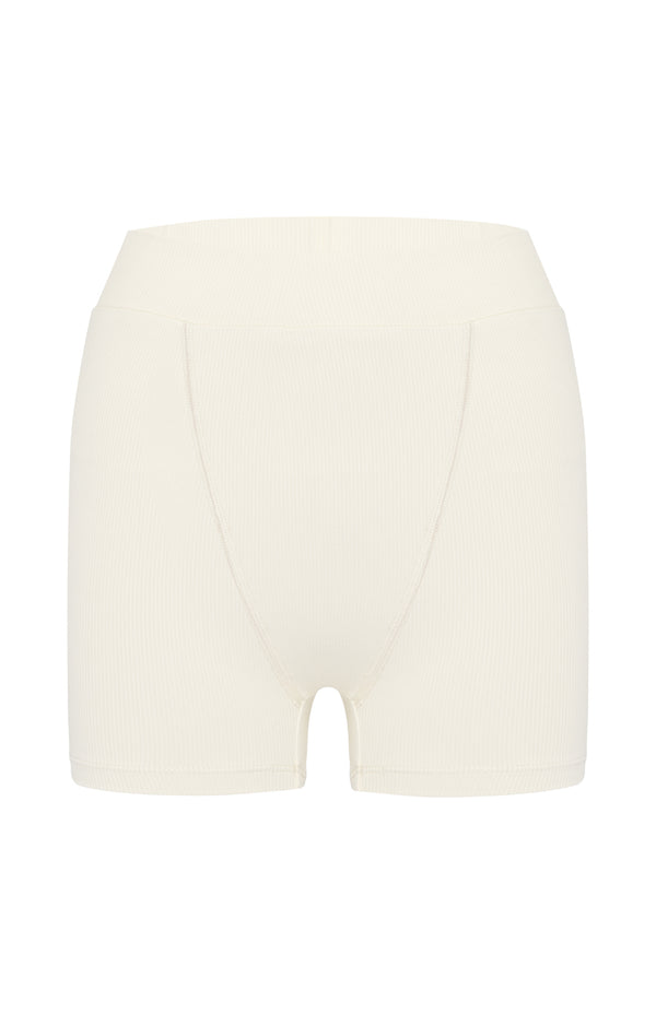 Greta-Dune-rib- Boyfriend short- recycled -made in California |ABYSSE|