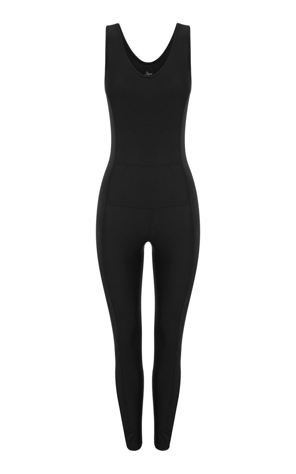 Kai Black- Catsuit-  one-piece- recycled activewear-made in california |ABYSSE|