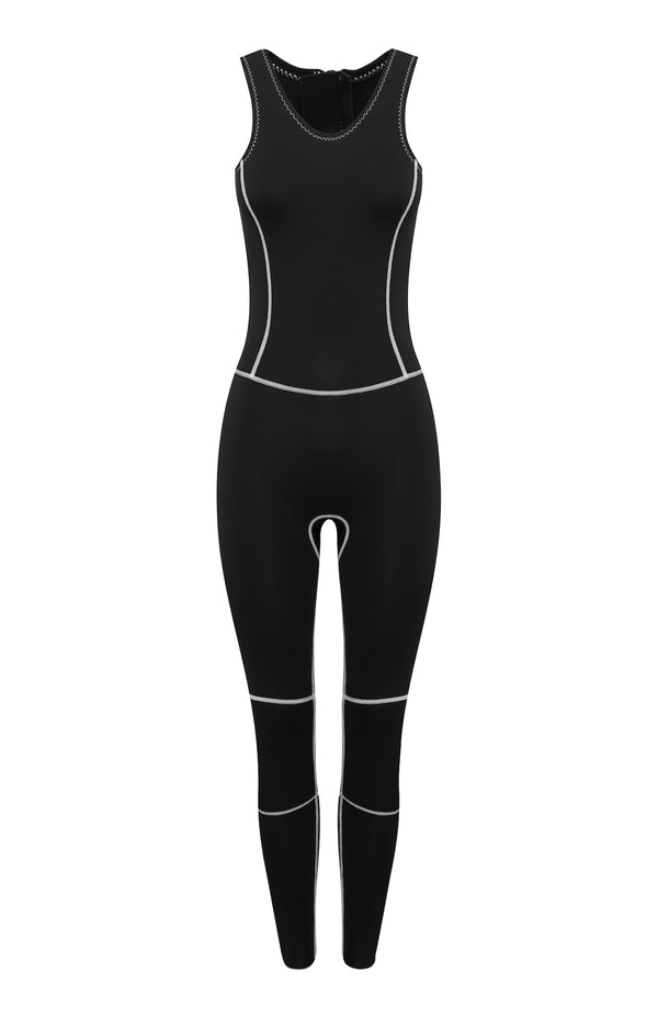Linda - Long Jane Wetsuit - Stone - Sleeveless 2mm Stone