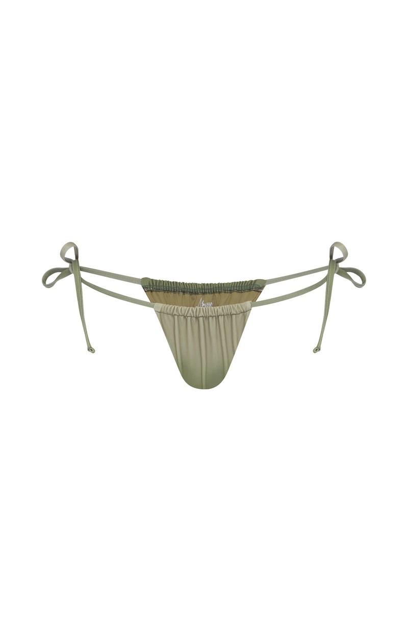 Misty Cheeky Bikini Bottom Adjustable String Ties - Canyon| ABYSSE
