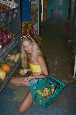 Bardot Top - Lemon