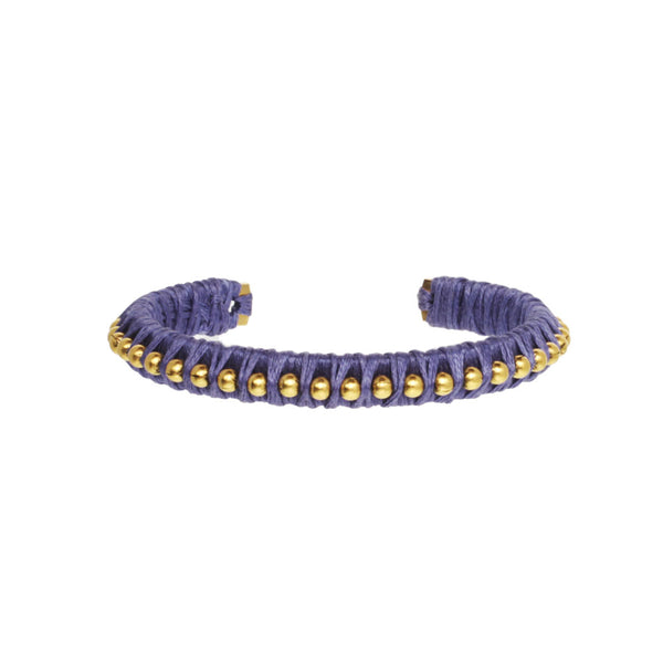 Beaded Wrapped Cuff Bracelet