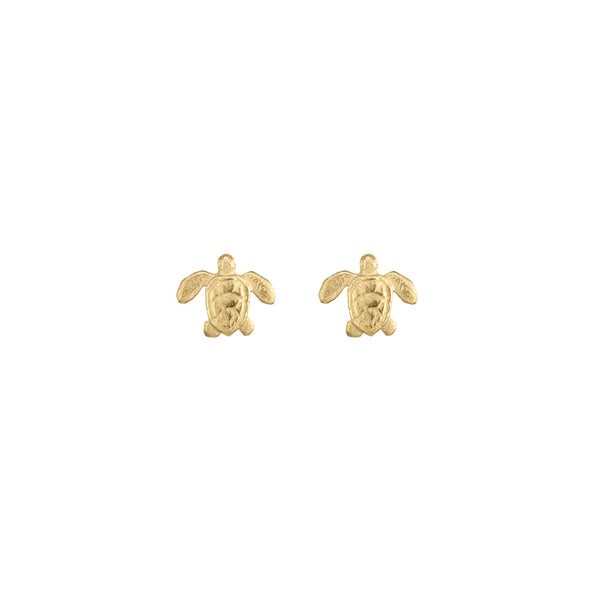 Mini Sea Turtle Stud Earrings