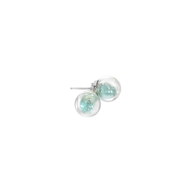 Mini Globe Stud Earrings