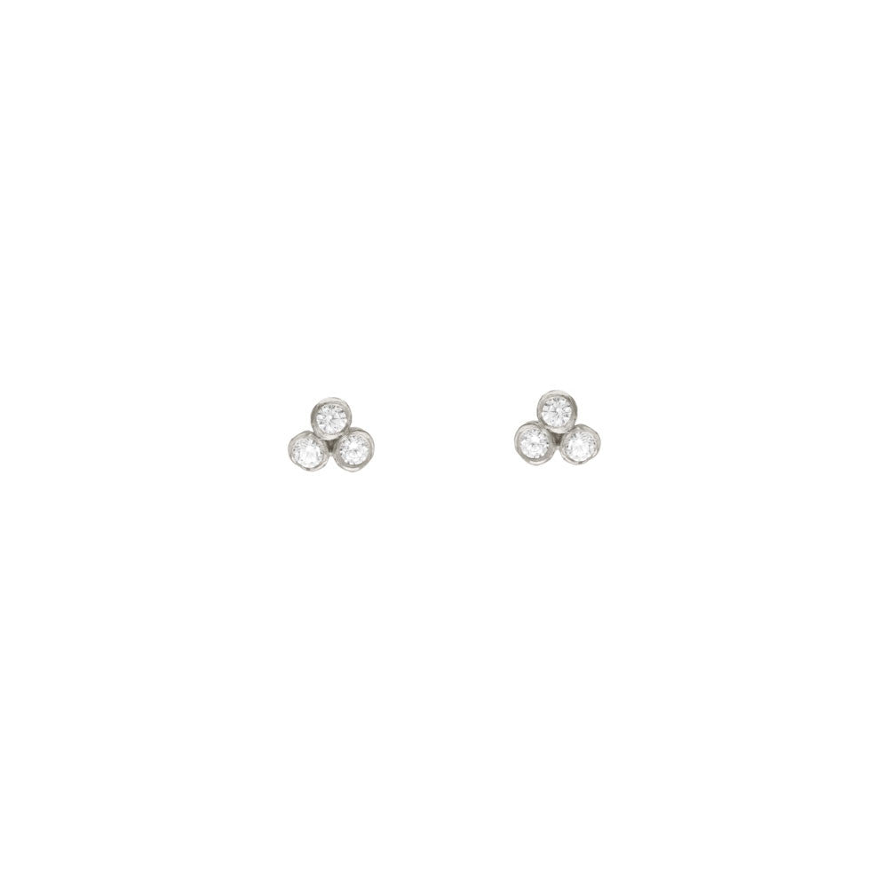 Seed Pod Solitaire Cluster Studs