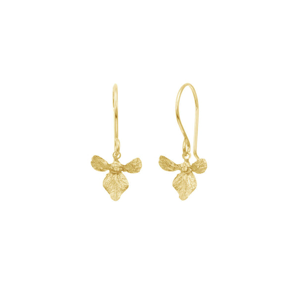 Small Orchid Earrings
