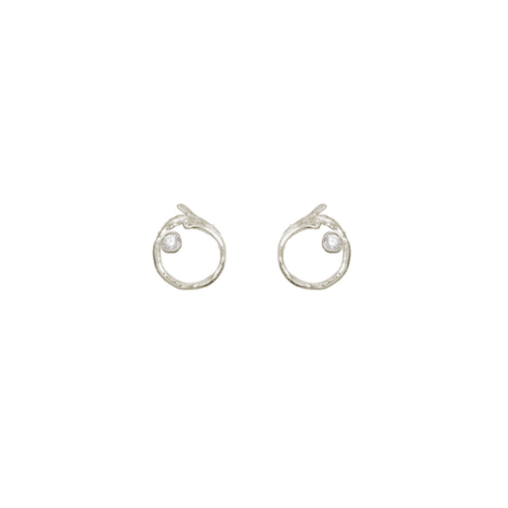 Branch Circle Seed Pod Solitaire Studs