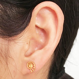 Mini Nautilus Stud Earrings