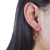 Small Opihi Circle Earrings