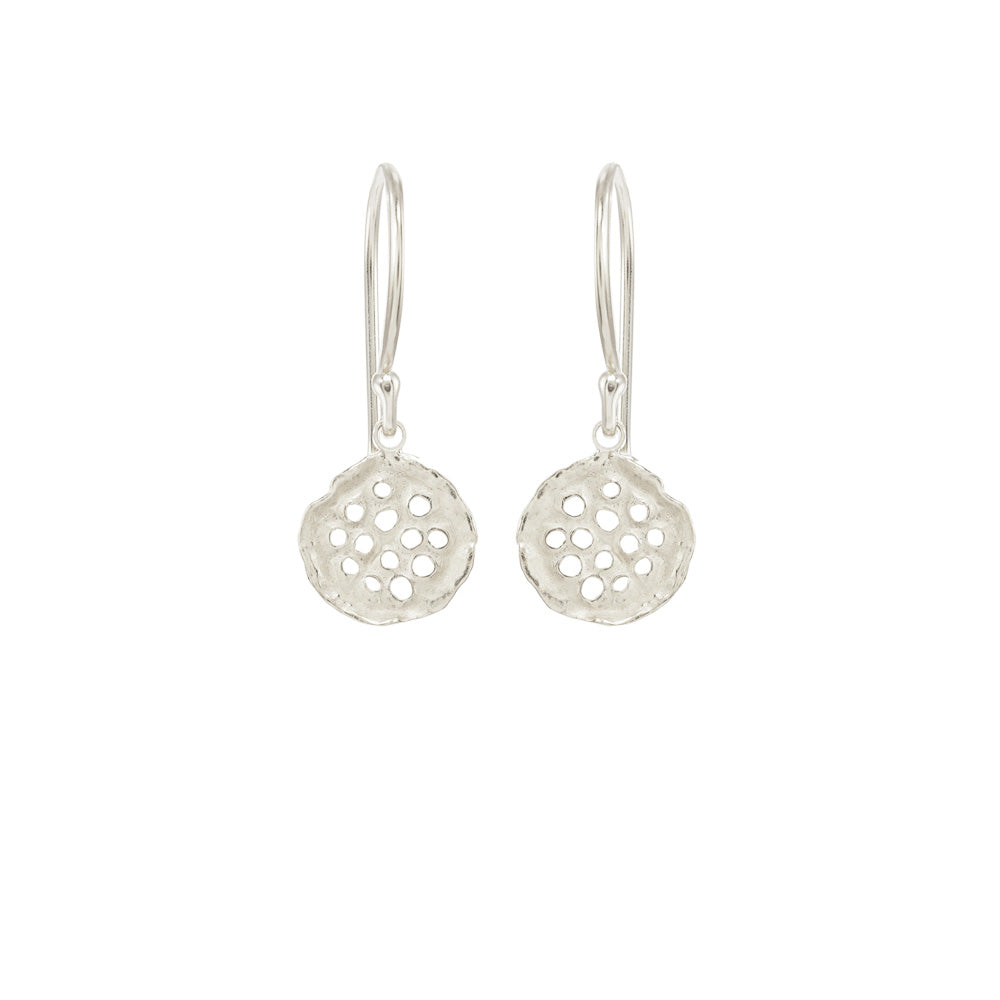 Mini Lotus Earrings
