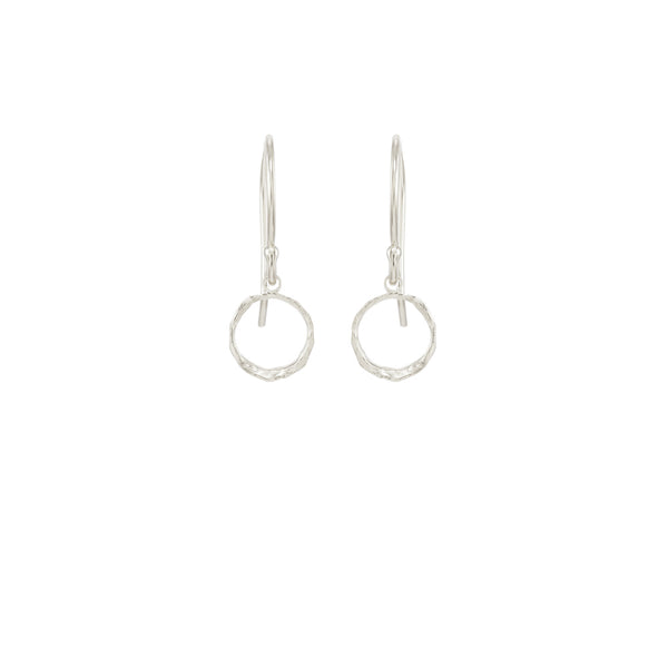 Mini Opihi Circle Earrings