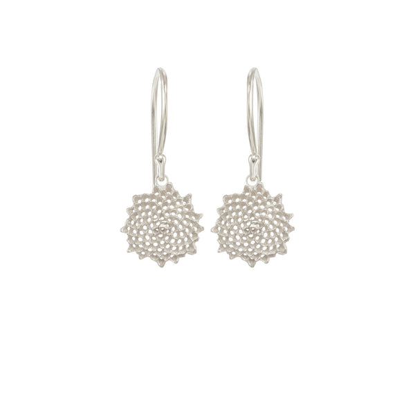 Mini Open Sunflower Earrings