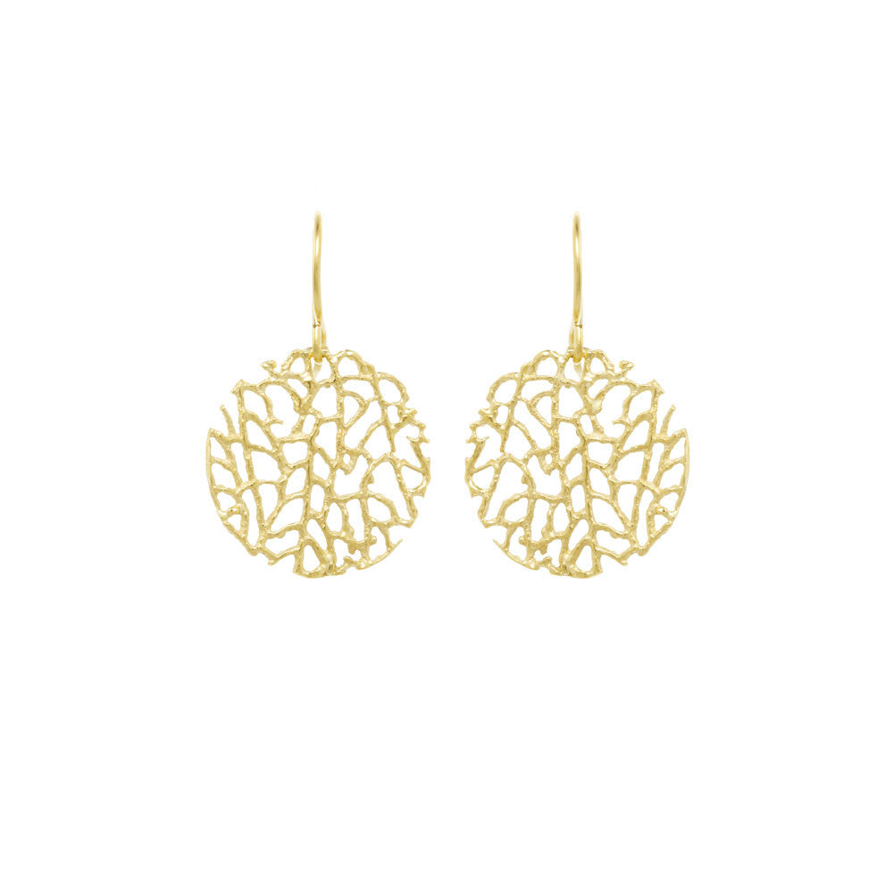 Mini Coral Disc Earrings