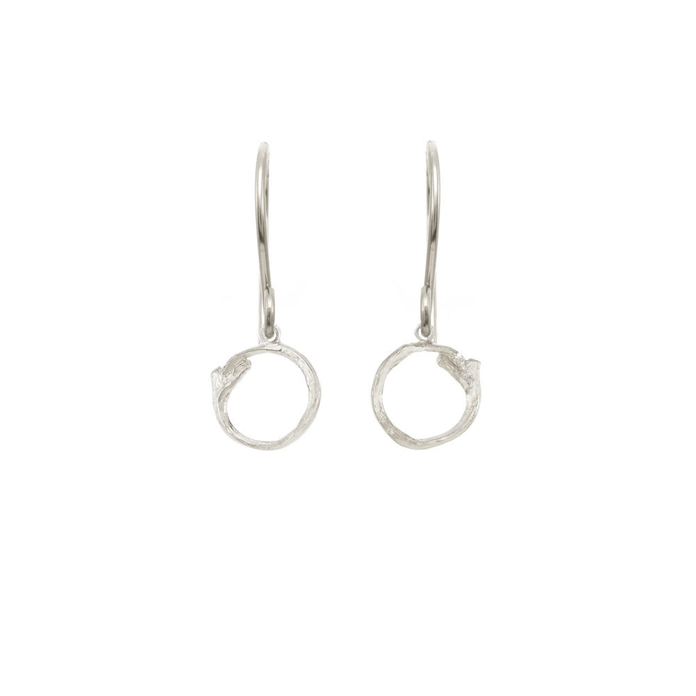 Hanging Branch Circle Earrings