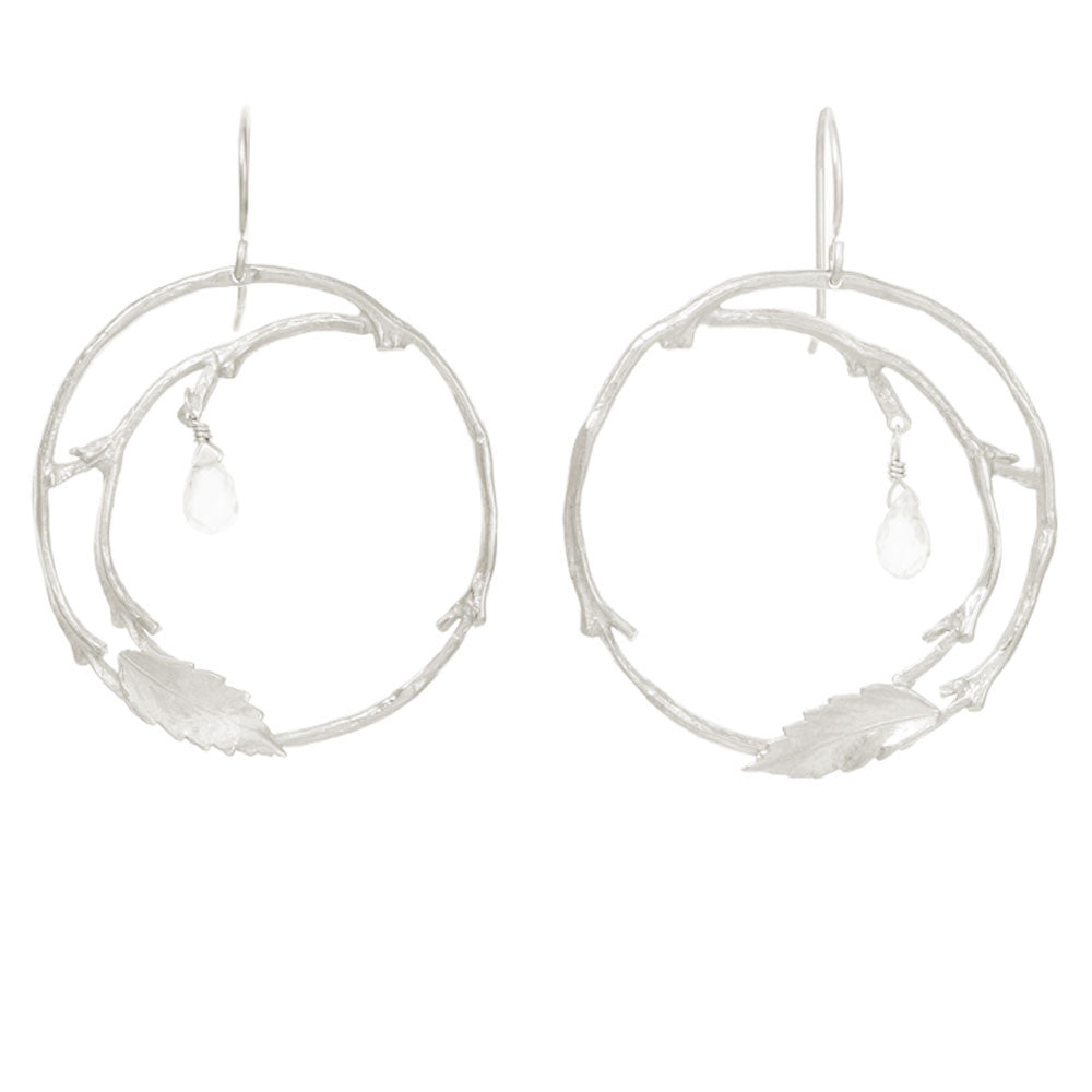 Full Circle Branch Earrings with Briolettes