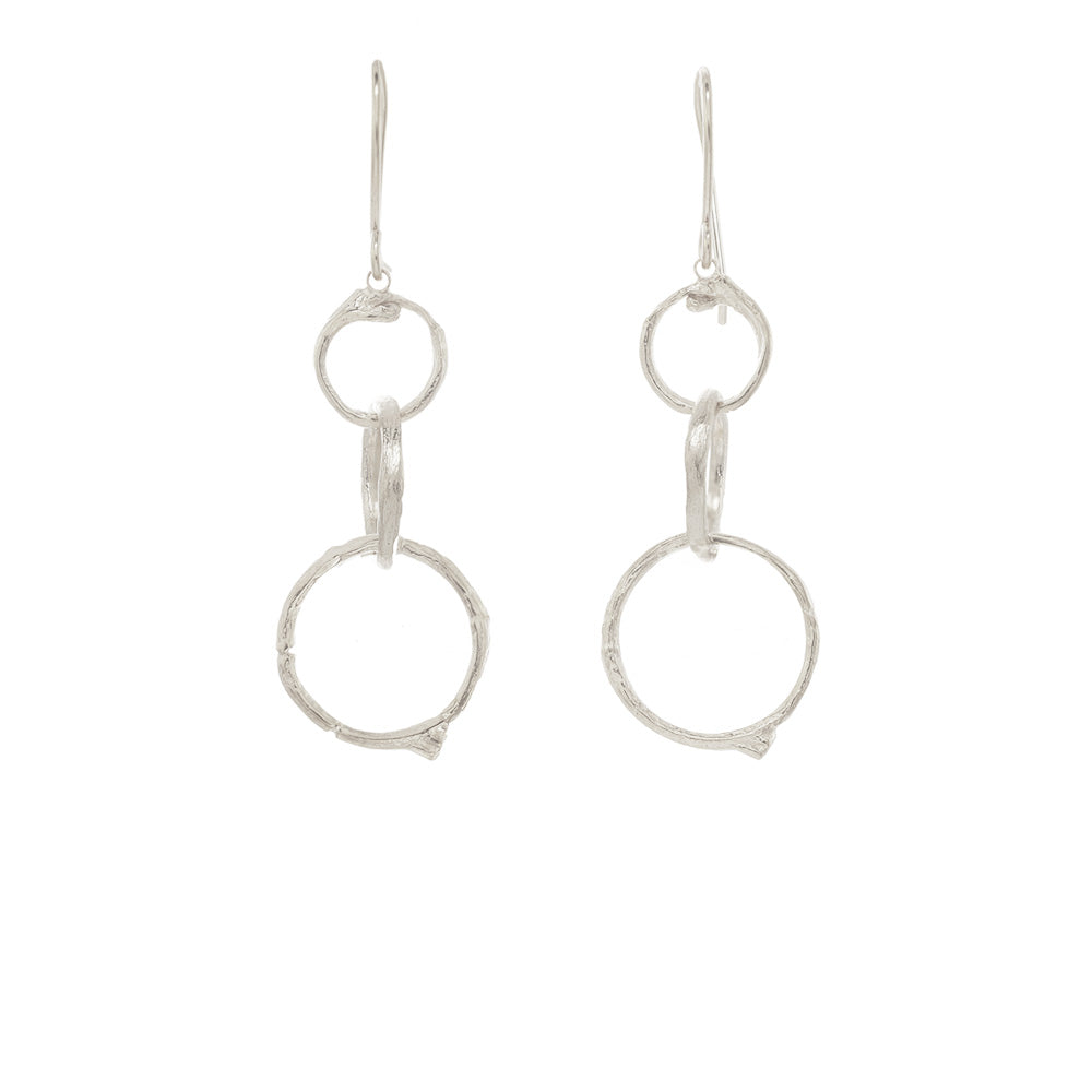 Graduated Branch Circle Earrings