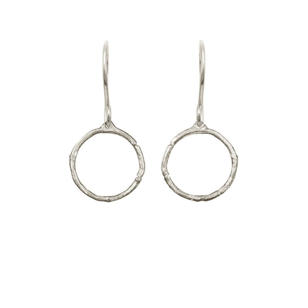Medium Branch Circle Earrings