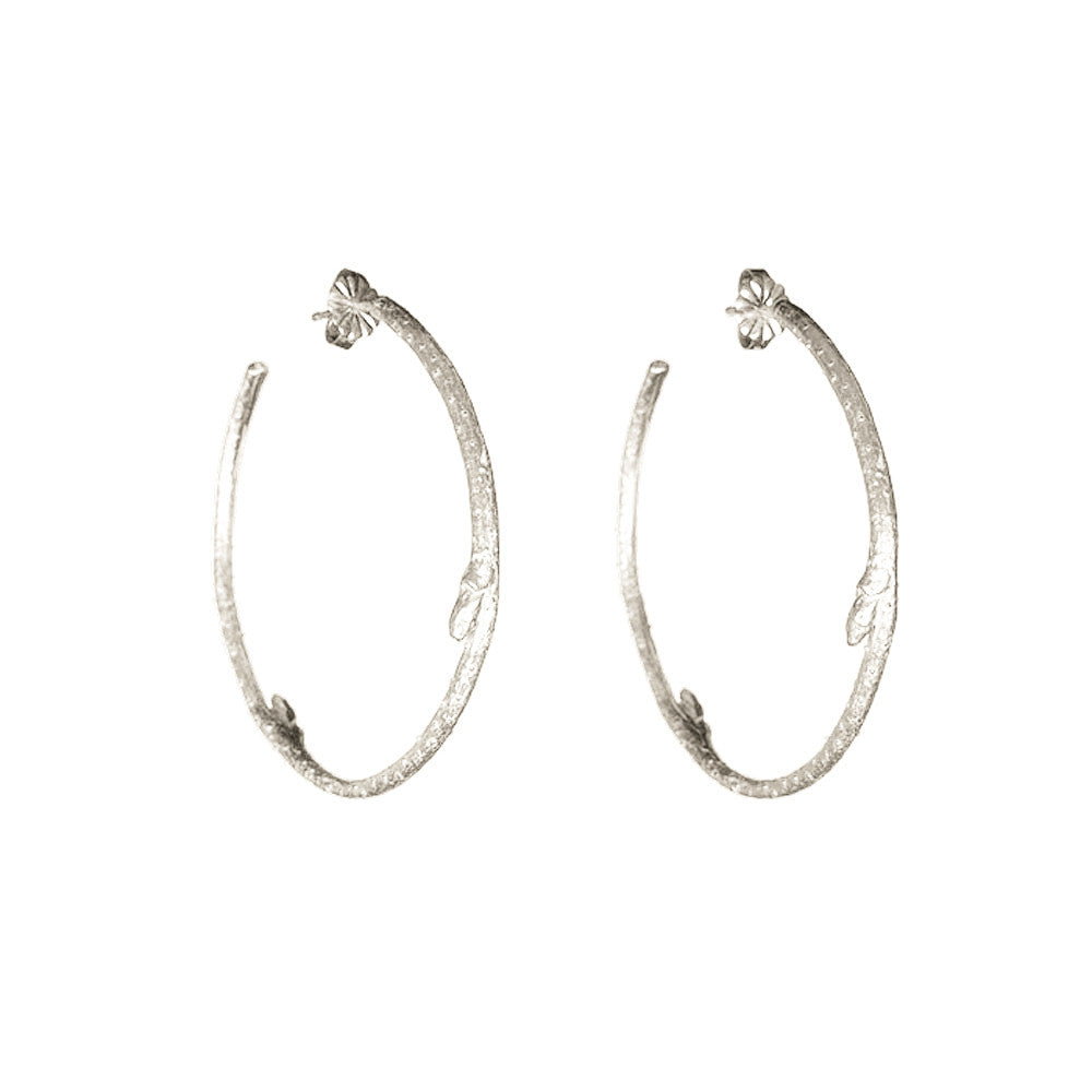 large branch hoop earrings