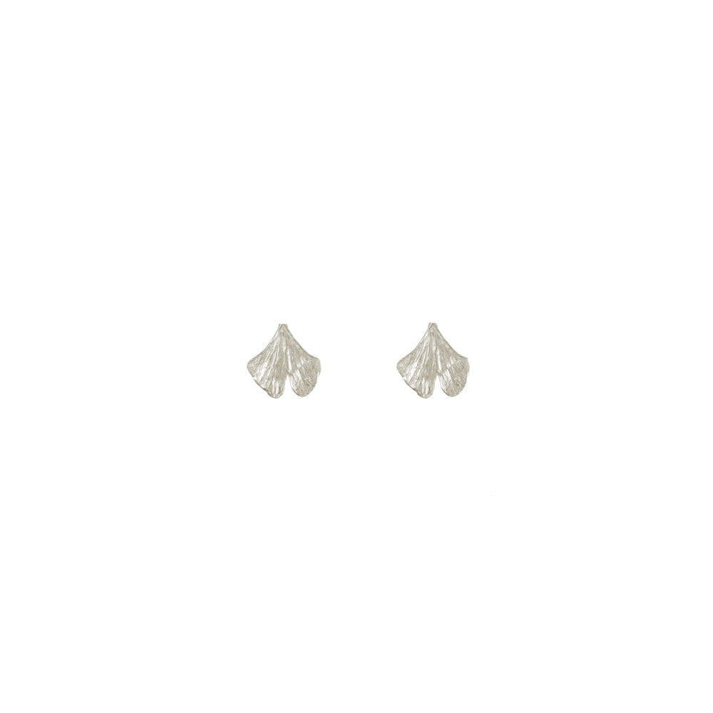 Mini Gingko Leaf Studs