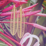 Large Plumeria Cutout Earrings