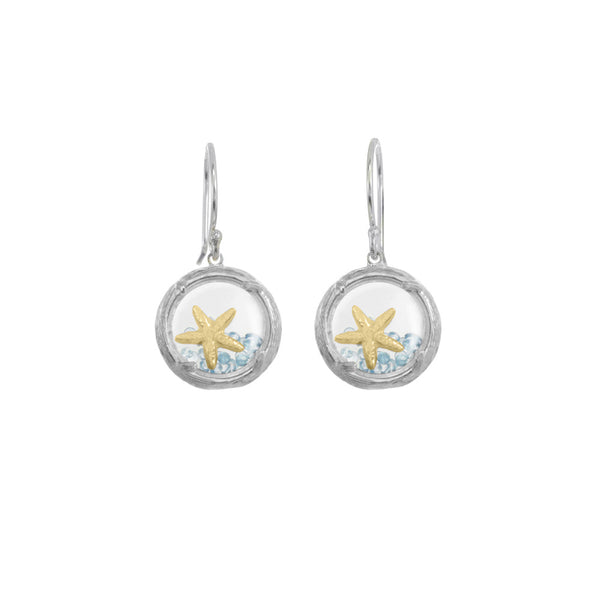 Mini Shaker Earrings with Starfish - Select Silver Styles Only