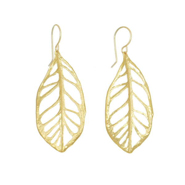 Plumeria Leaf Earrings