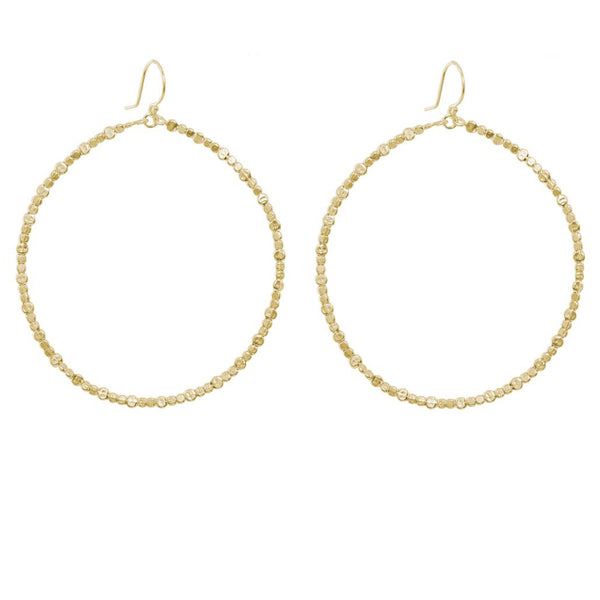 Large Hammered Hoop Earrings