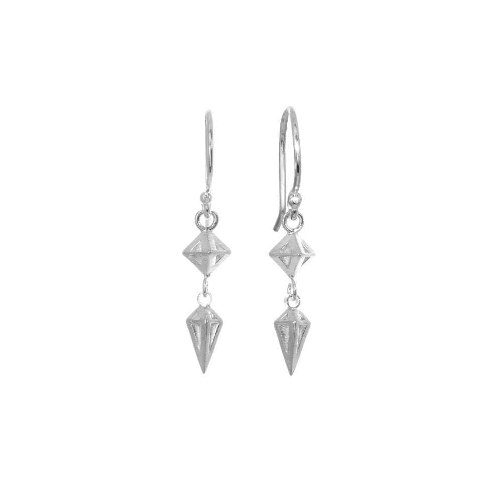 Diamond and Spike Earrings