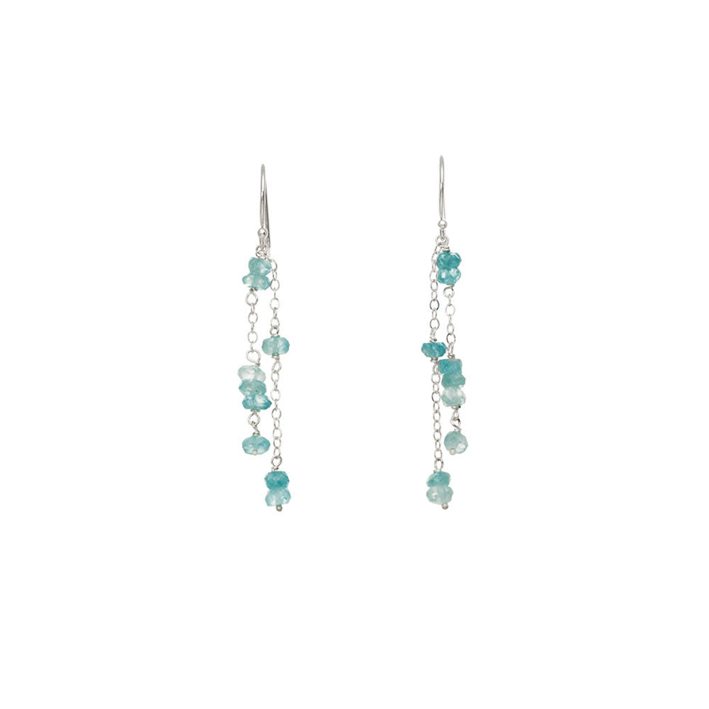 Small Gemstone Cascade Earrings