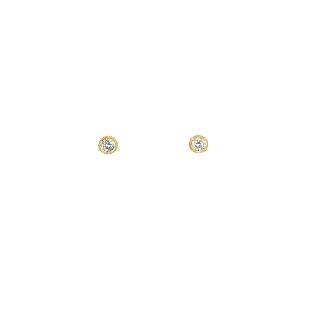 Mini Solitaire Stud Earrings