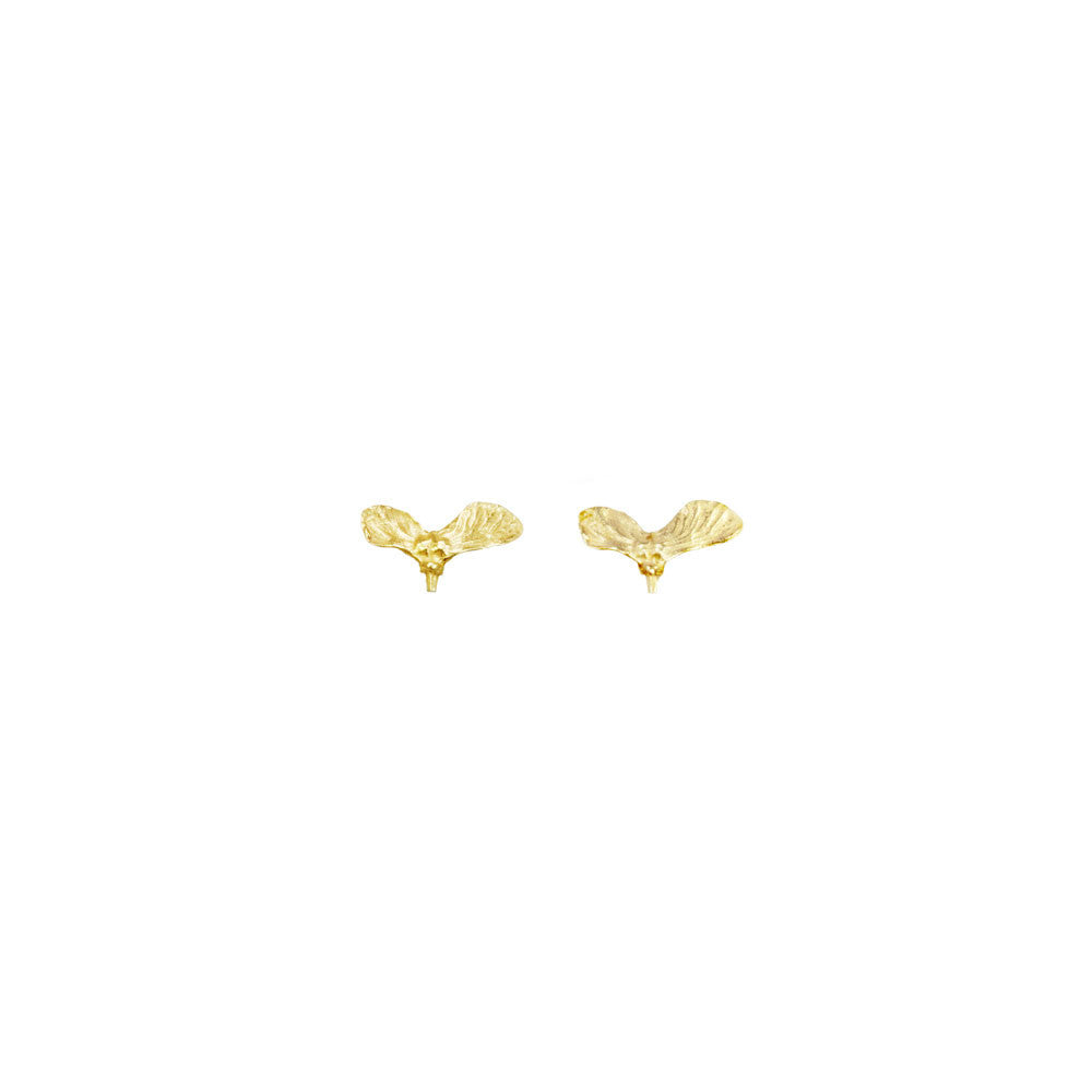 Maple Seed Stud Earrings