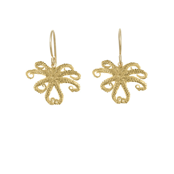 Small Octopus Earrings