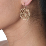 Small Coral Disc Earrings