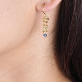 Hammered Bead Drop Earrings