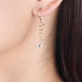 Chainlink Earrings with Briolette
